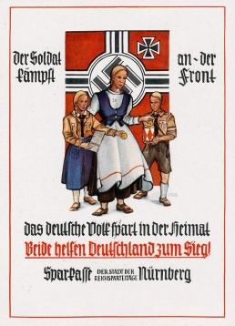 "Postkarte der ""Sparkasse der Reichsparteitage Nürnberg"", 1940 (StadtAN A 5 Nr. 5194)"